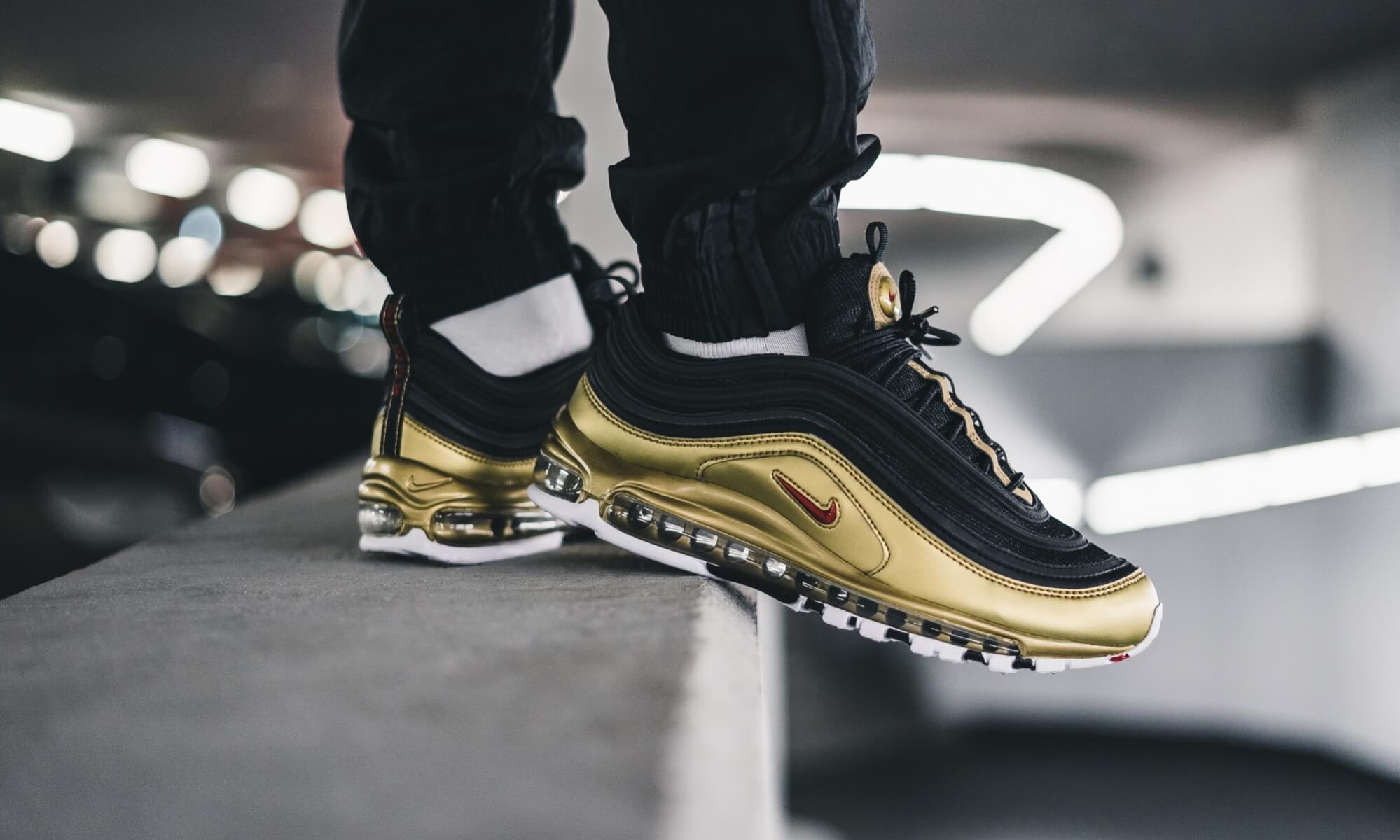 Nike Air Max 97 QS Black Gold AT5458 002
